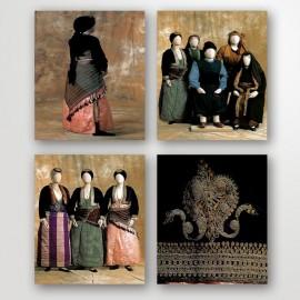 Κάρτες: 14 από το Μουσείο Ποντιακού Ελληνισμού. Σχήμα 11x16